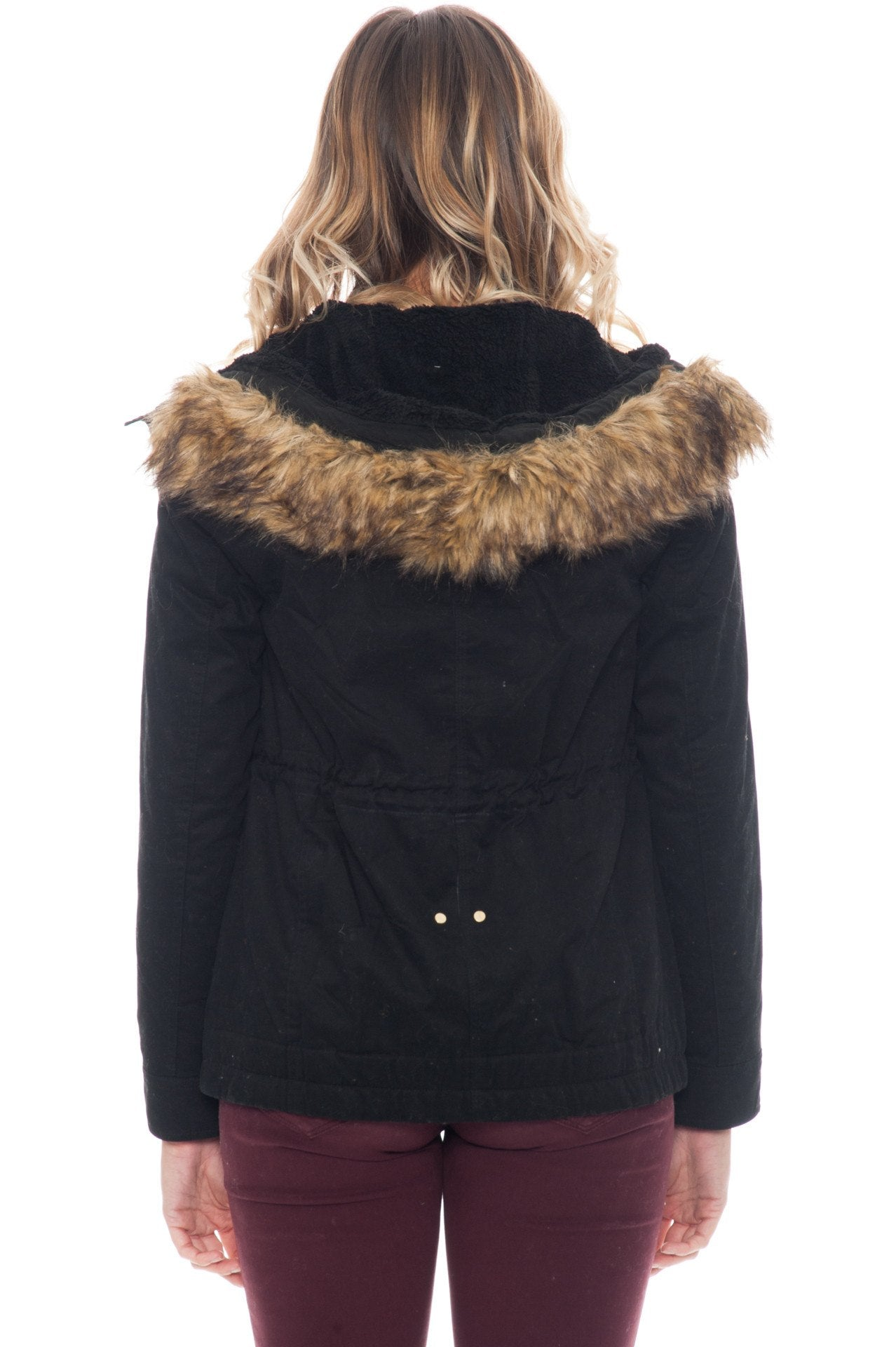 Jacket - Double Lined with Fur Hood and Full Length Zipper (Final Sale)