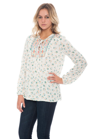 Blouse - Embroidered Yoke - 1