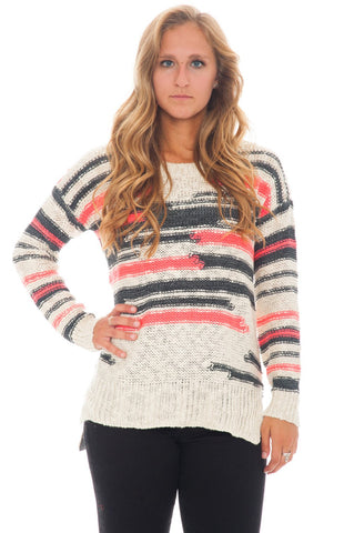 Sweater - Distracted Stripe (Final Sale)