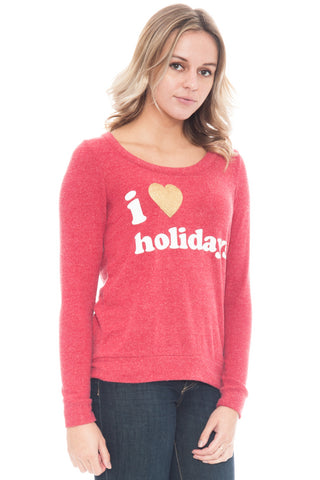 Sweater - I Love Holidays Crewneck by Chaser (Final Sale)