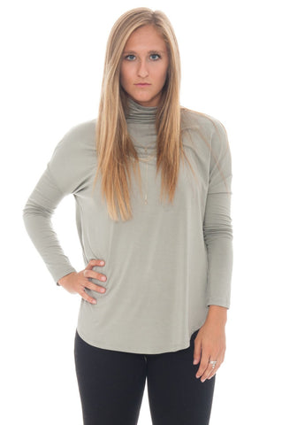 Shirt - Bunched Turtleneck By Lush (Final Sale)
