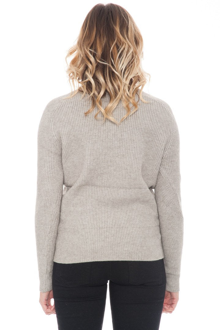 Sweater - Cropped Lace Up By Paper Crane