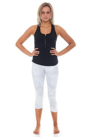 Tank - Alo Tank with Front Zip Detail - 2