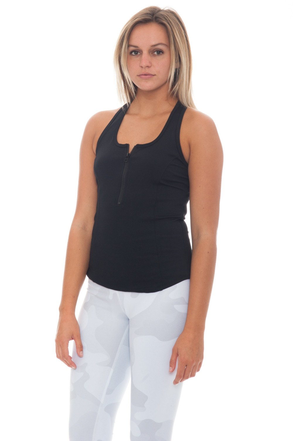 Tank - Alo Tank with Front Zip Detail - 1