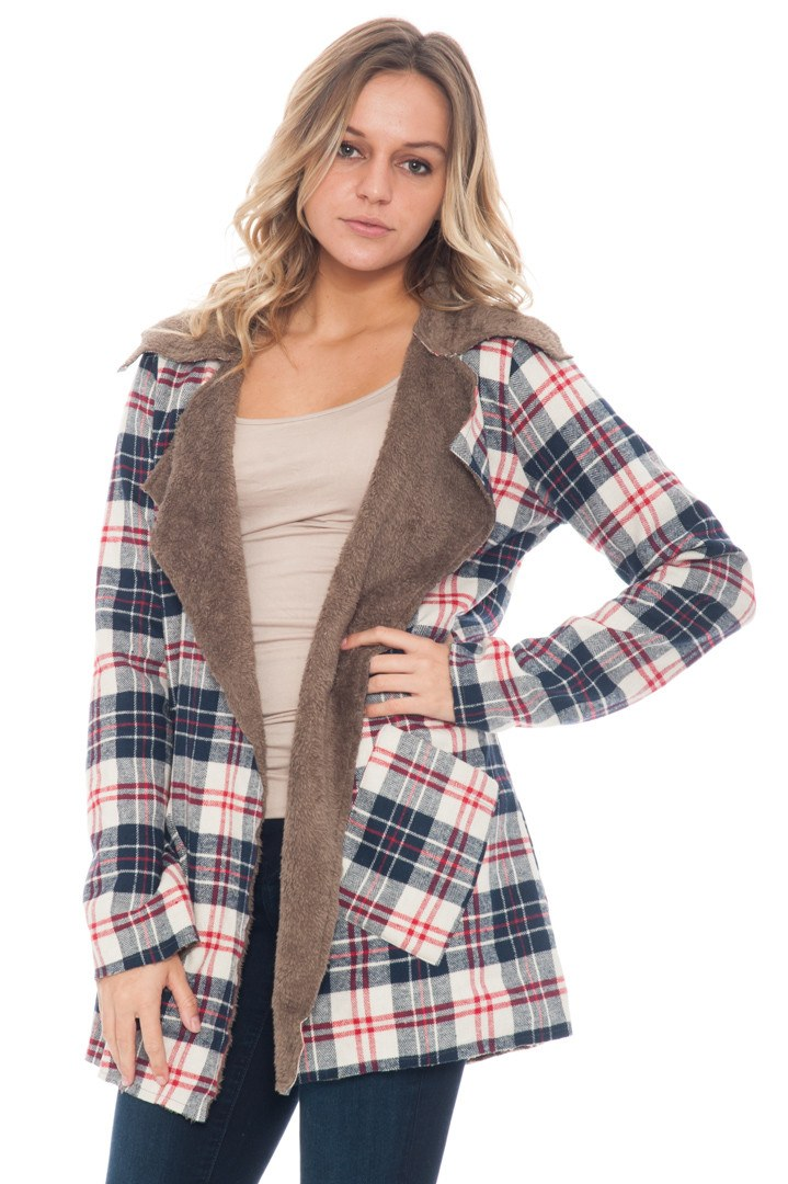 Coat - Plaid Fur Lined (Final Sale)