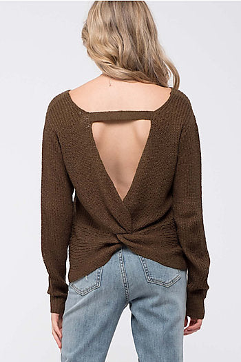 Sweater - Twist Back