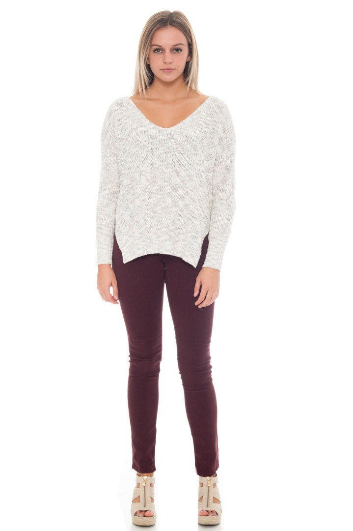 Sweater - Open Back Top By Lush