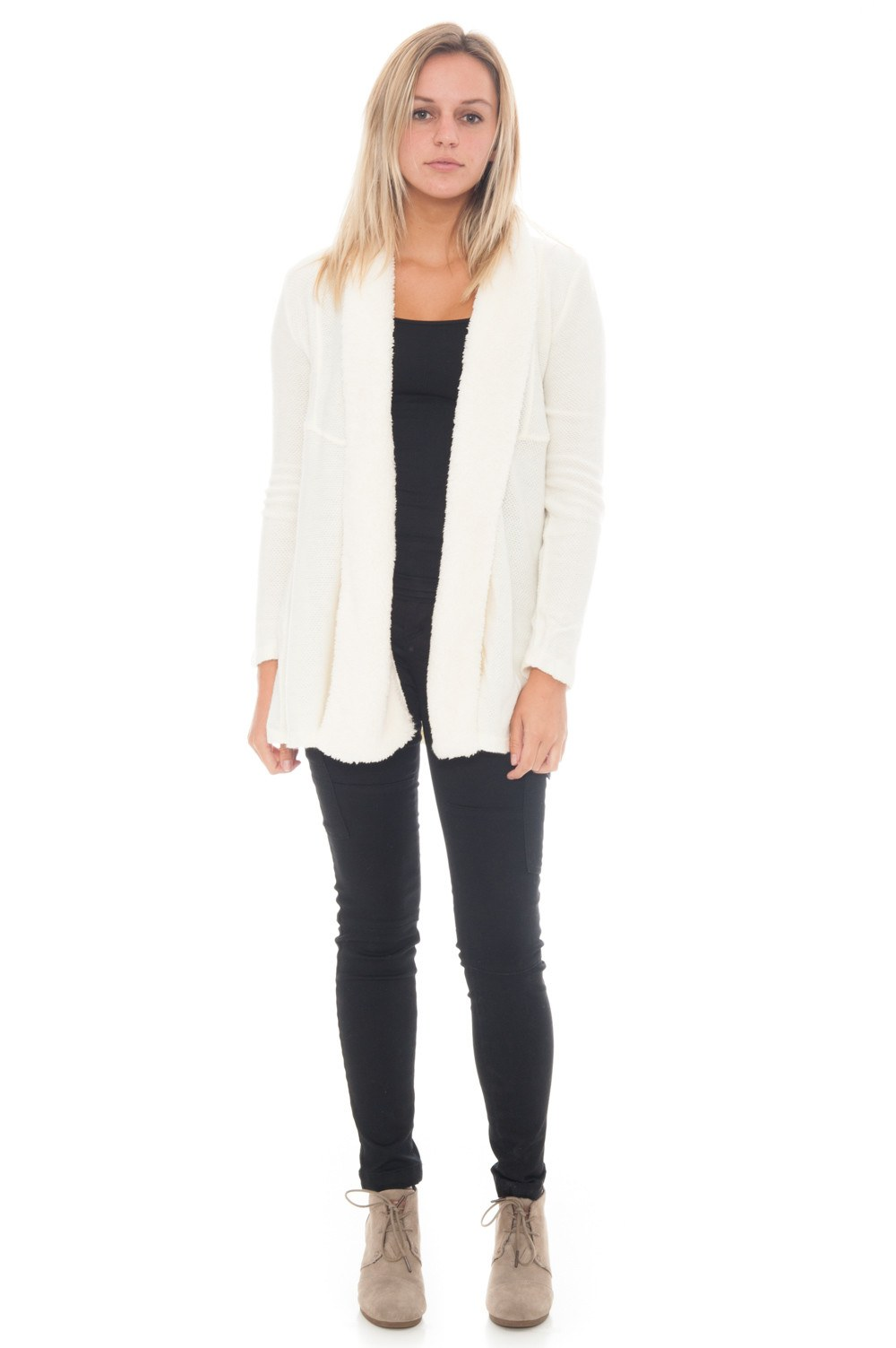 Cardi - Knit with Sherpa - 3
