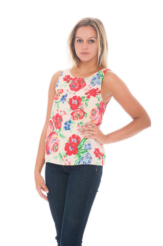 Top - Floral U Back By Everly (Final Sale)