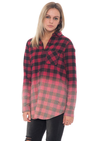 Shirt - Dip Dyed Plaid - 2