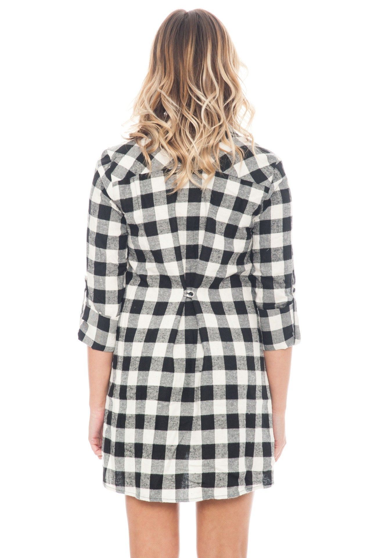 Dress - Plaid Button Down