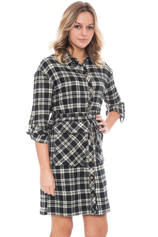 Dress - Plaid Duster  By Paper Crane