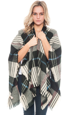 Poncho - Plaid (Final Sale)