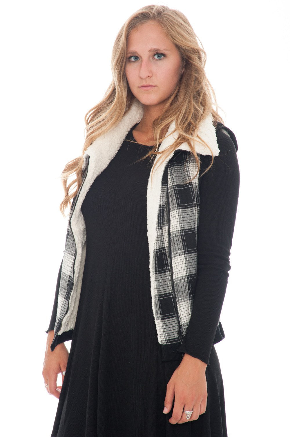 Vest - Zip Plaid - 1