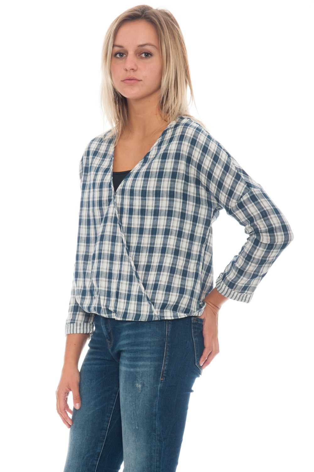Blouse - Plaid Wrap - 2