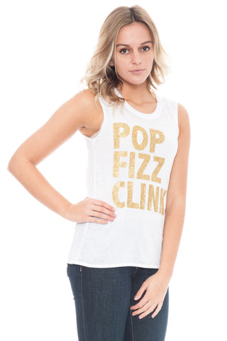 Tank - Pop Fizz Clink Muscle Shirt by Chaser