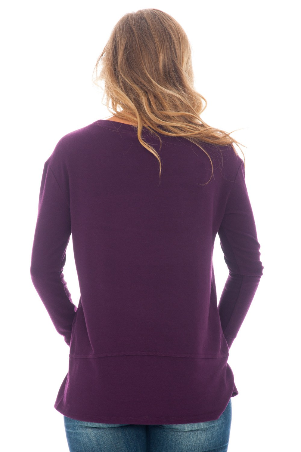 Top - Begley Purple Sleeve by BB Dakota - 3