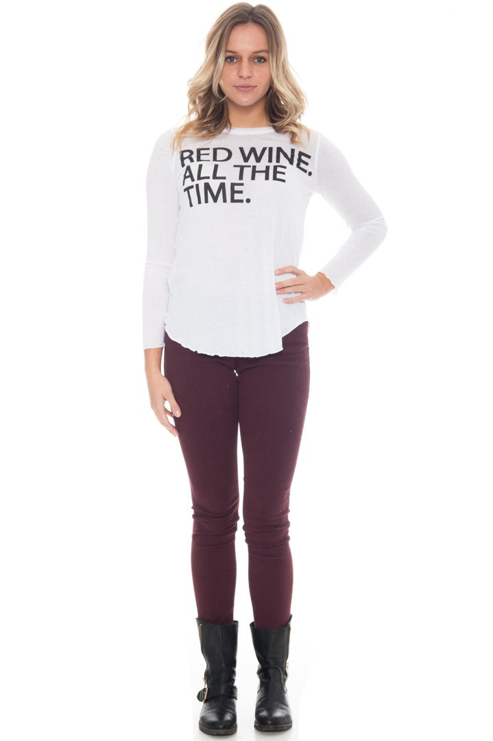 Shirt - Red Wine All The Time Top By Chaser