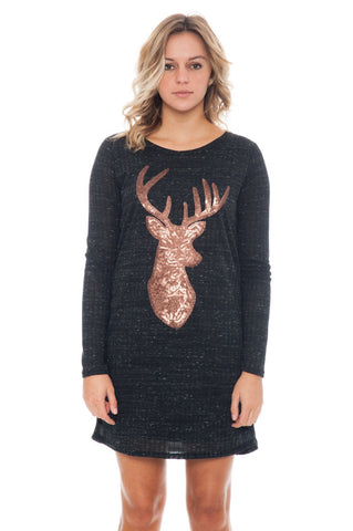 Dress - Reindeer Knit - 1