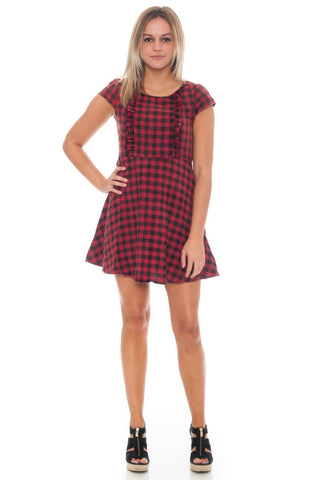 Dress - Ruffle Checkered (Final Sale)