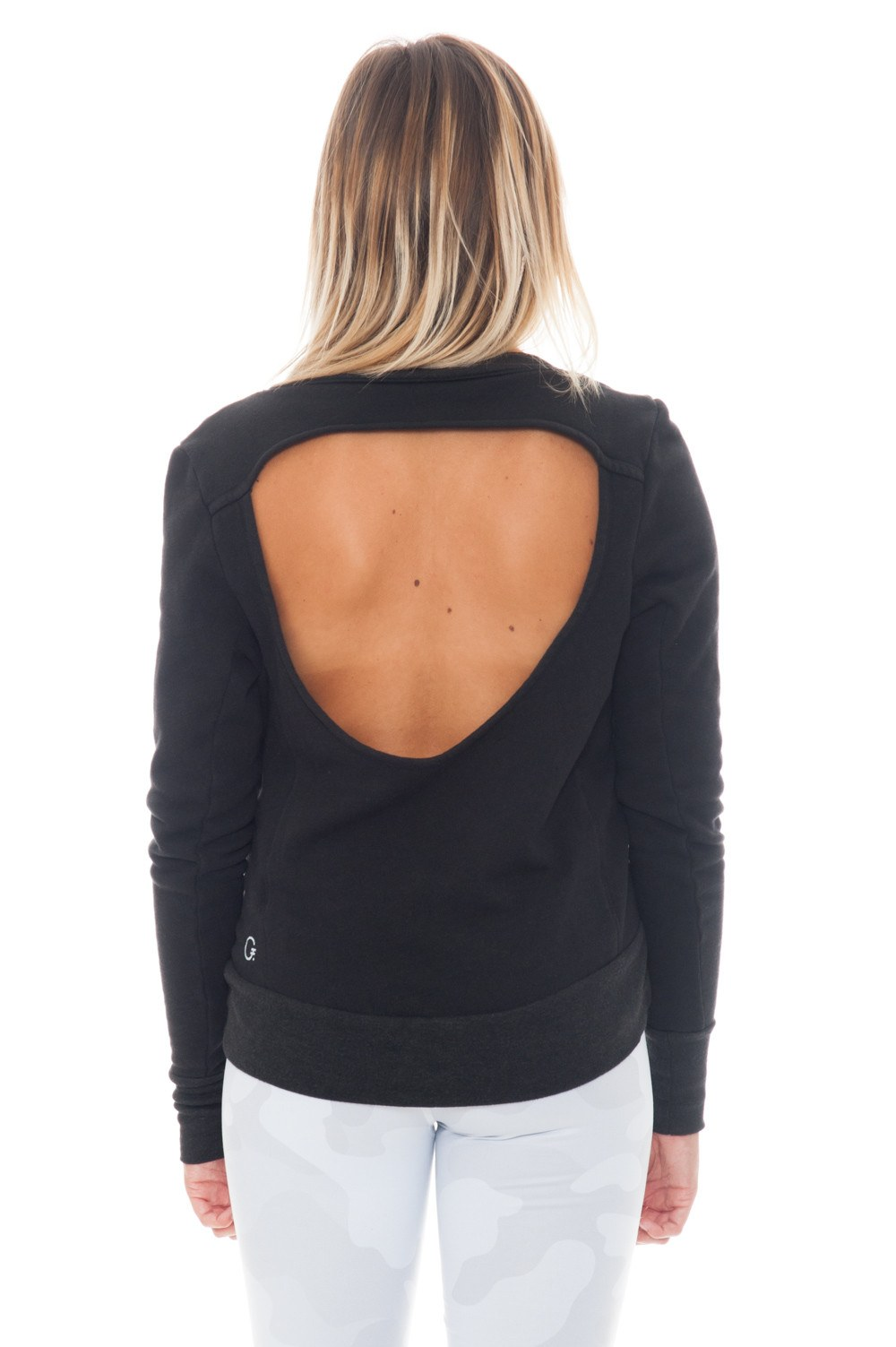 Sweatshirt - SIMONE Open Back by Good hYOUman - 2