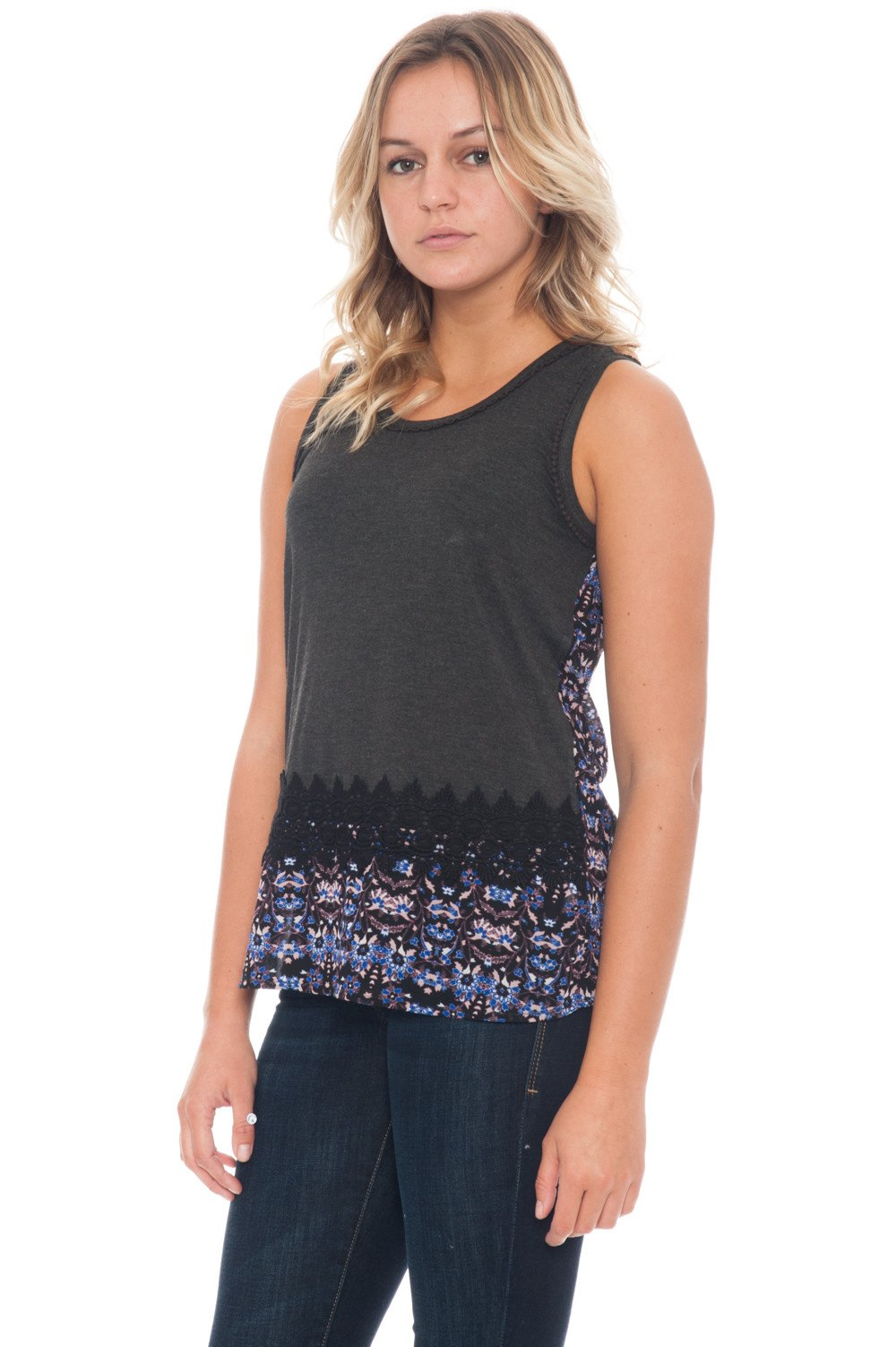 Tank - Spliced Knit - 1