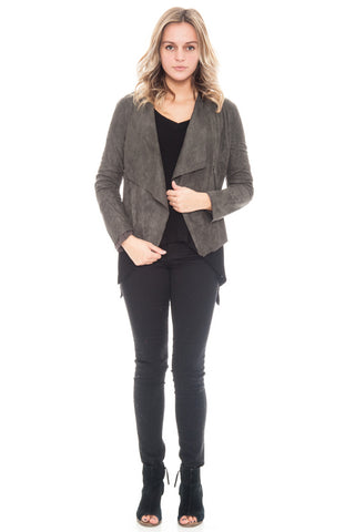 Jacket - Suede Open Front By Lush