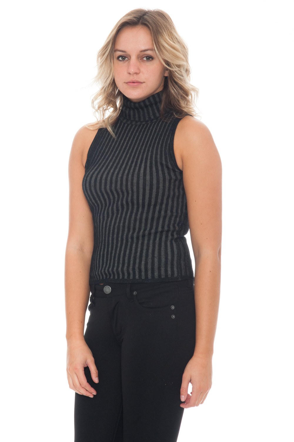 Sweater - Ribbed Knit Tank - 5