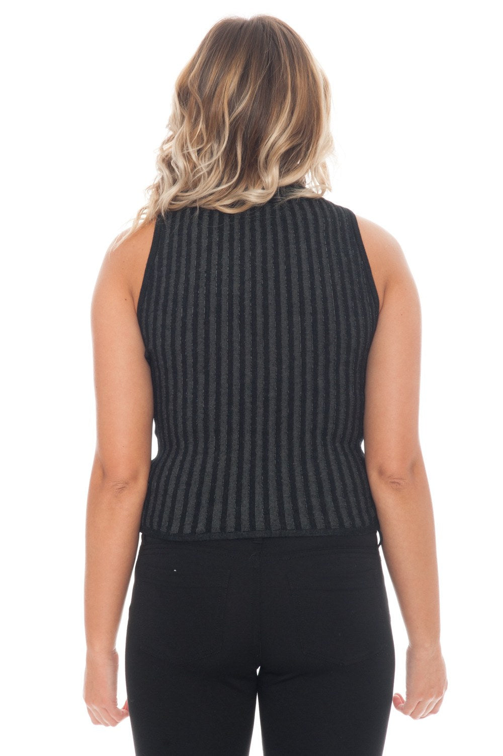 Sweater - Ribbed Knit Tank - 6