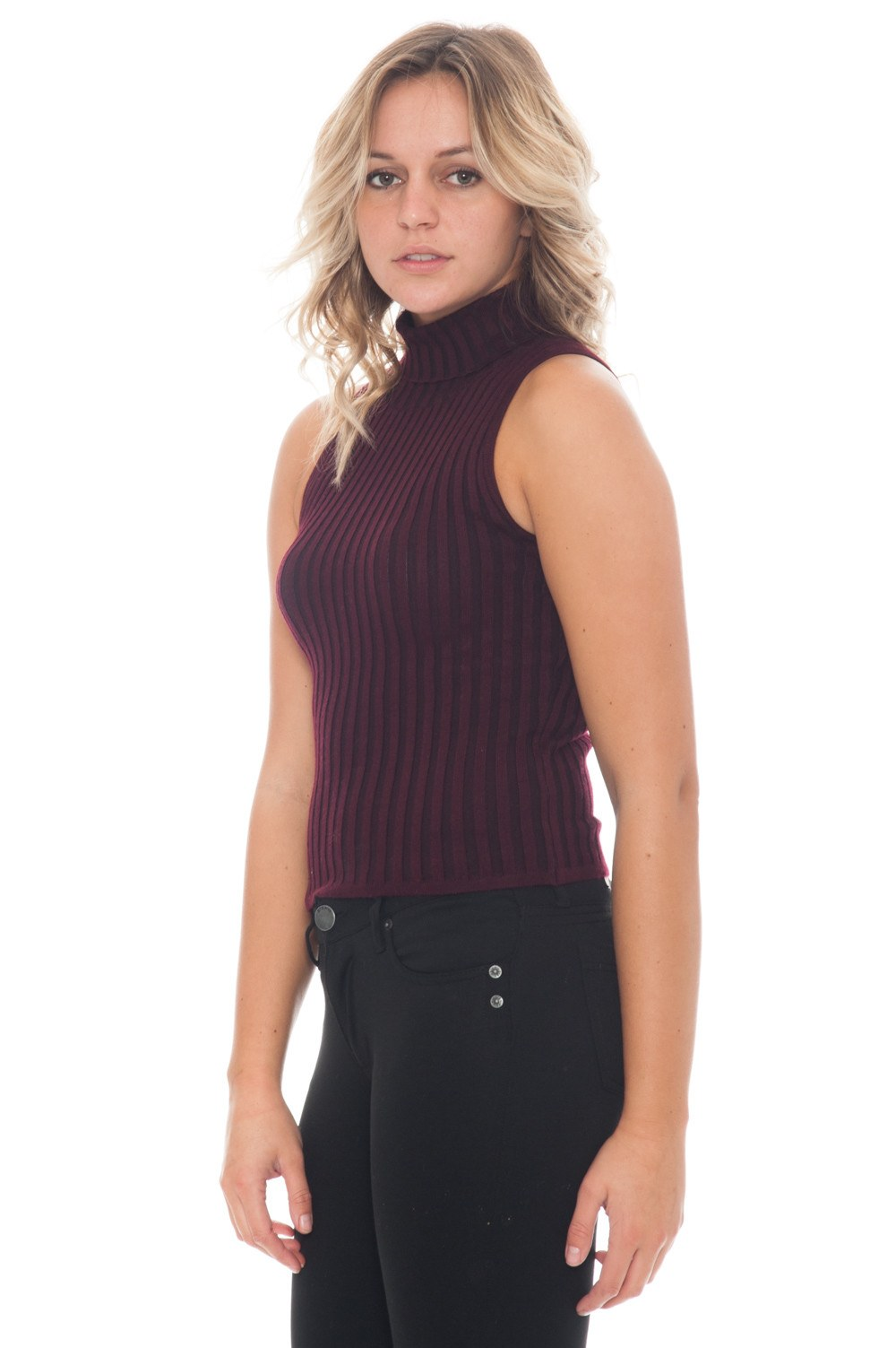 Sweater - Ribbed Knit Tank - 2