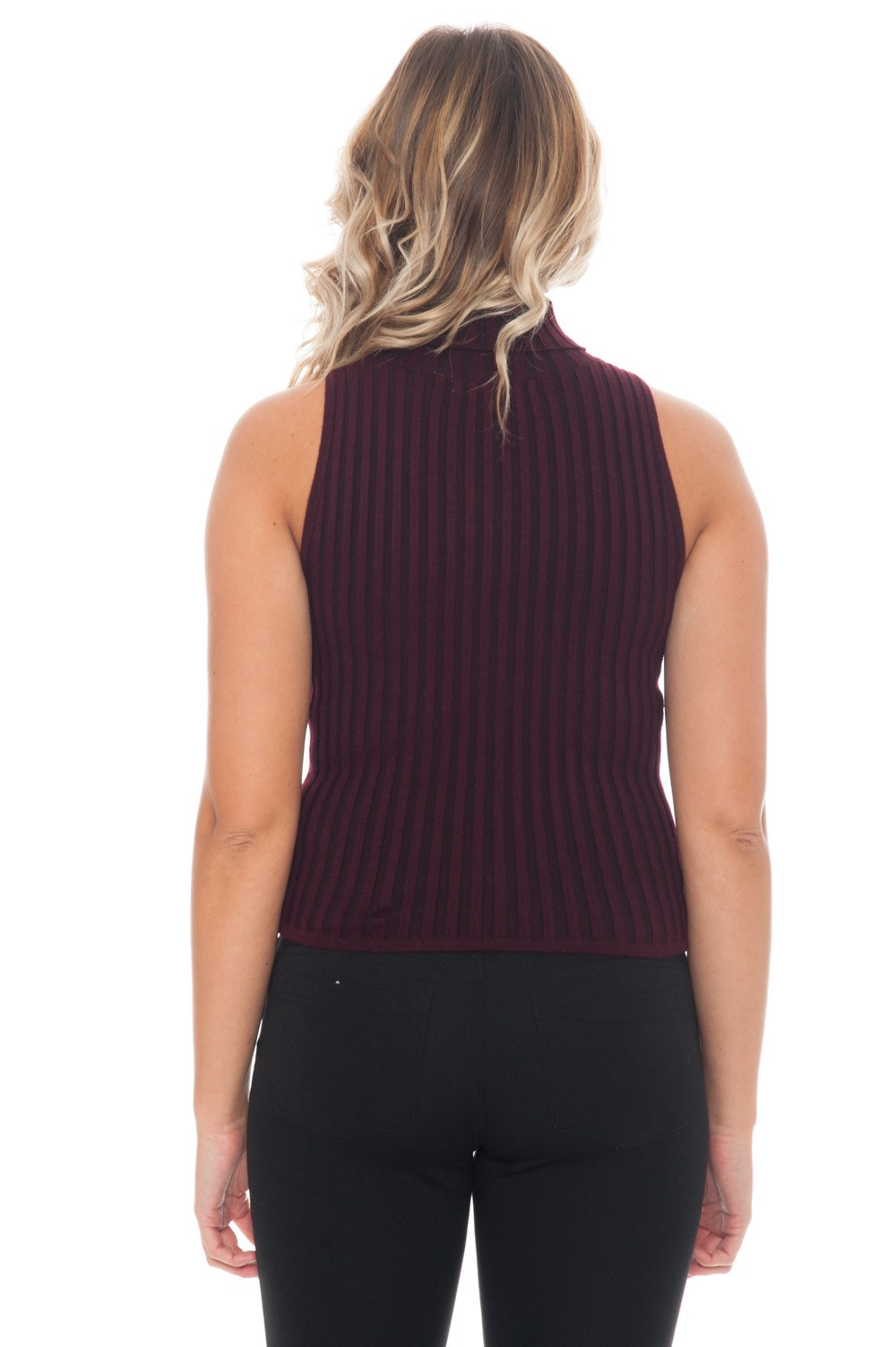 Sweater - Ribbed Knit Tank - 3