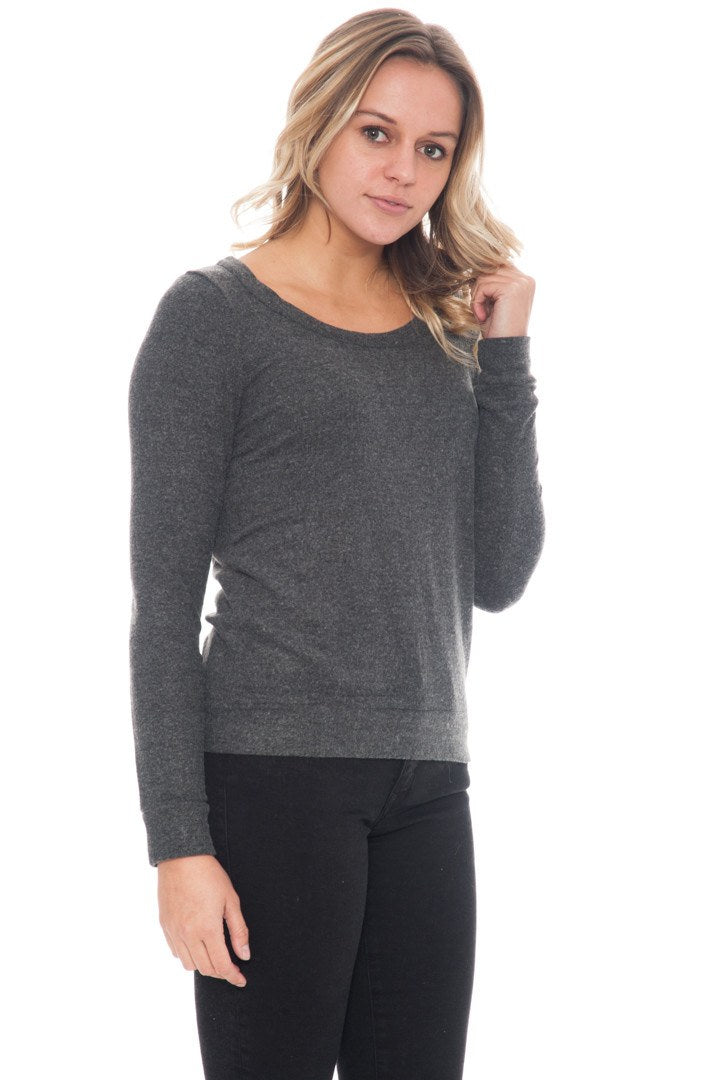 Sweater - Triangle Open Back Crewneck By Chaser