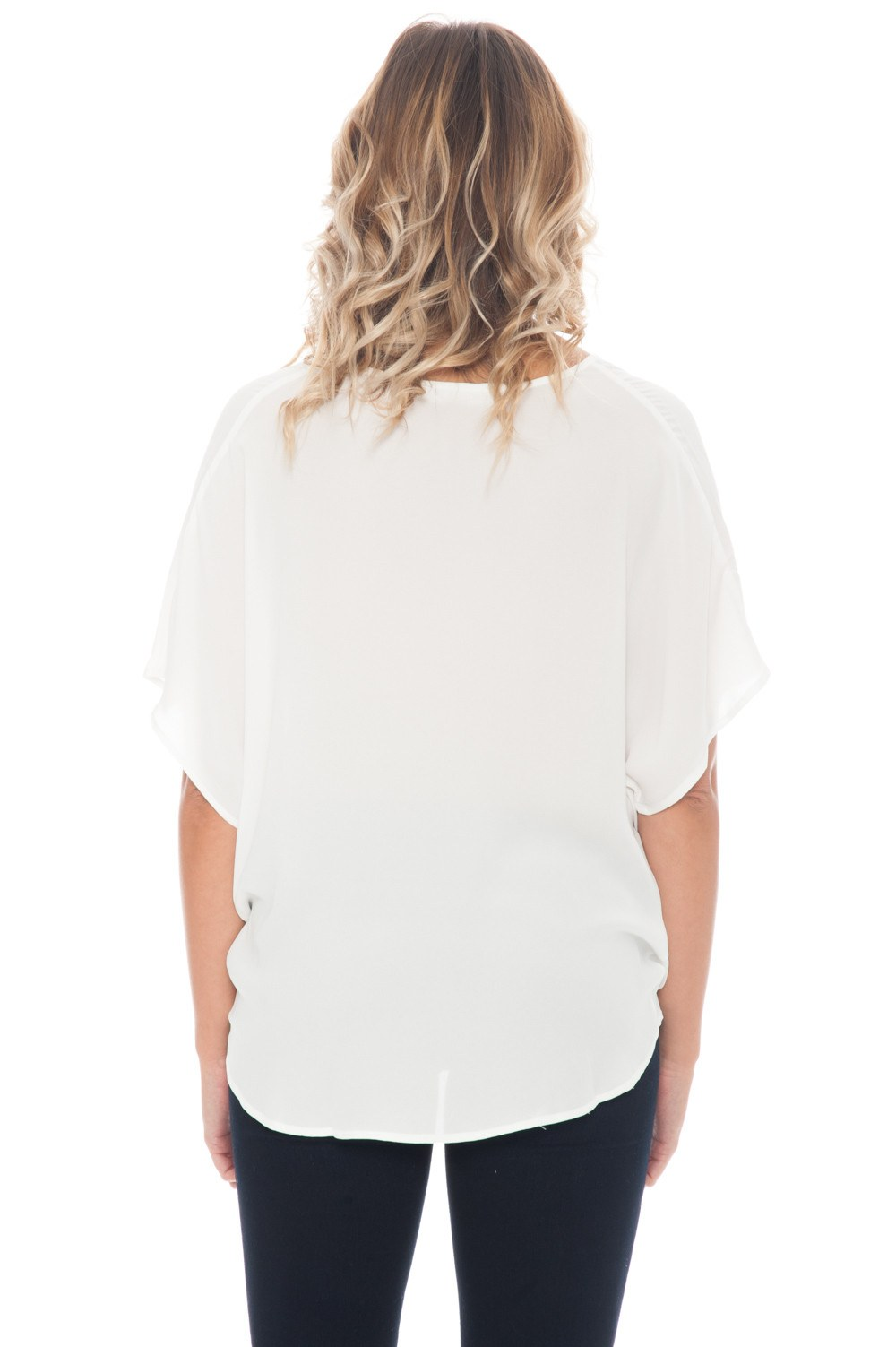Top - Shear Cream Top With Front Detail - 3