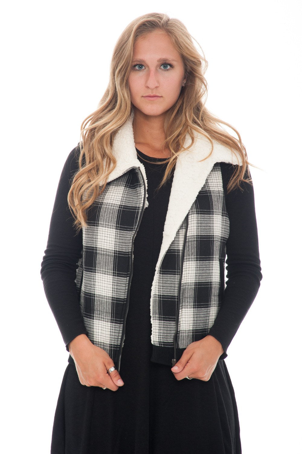 Vest - Zip Plaid - 2