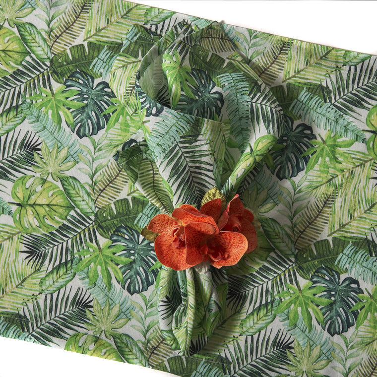 "16"" x 96"" Tropical Ferns Runner"