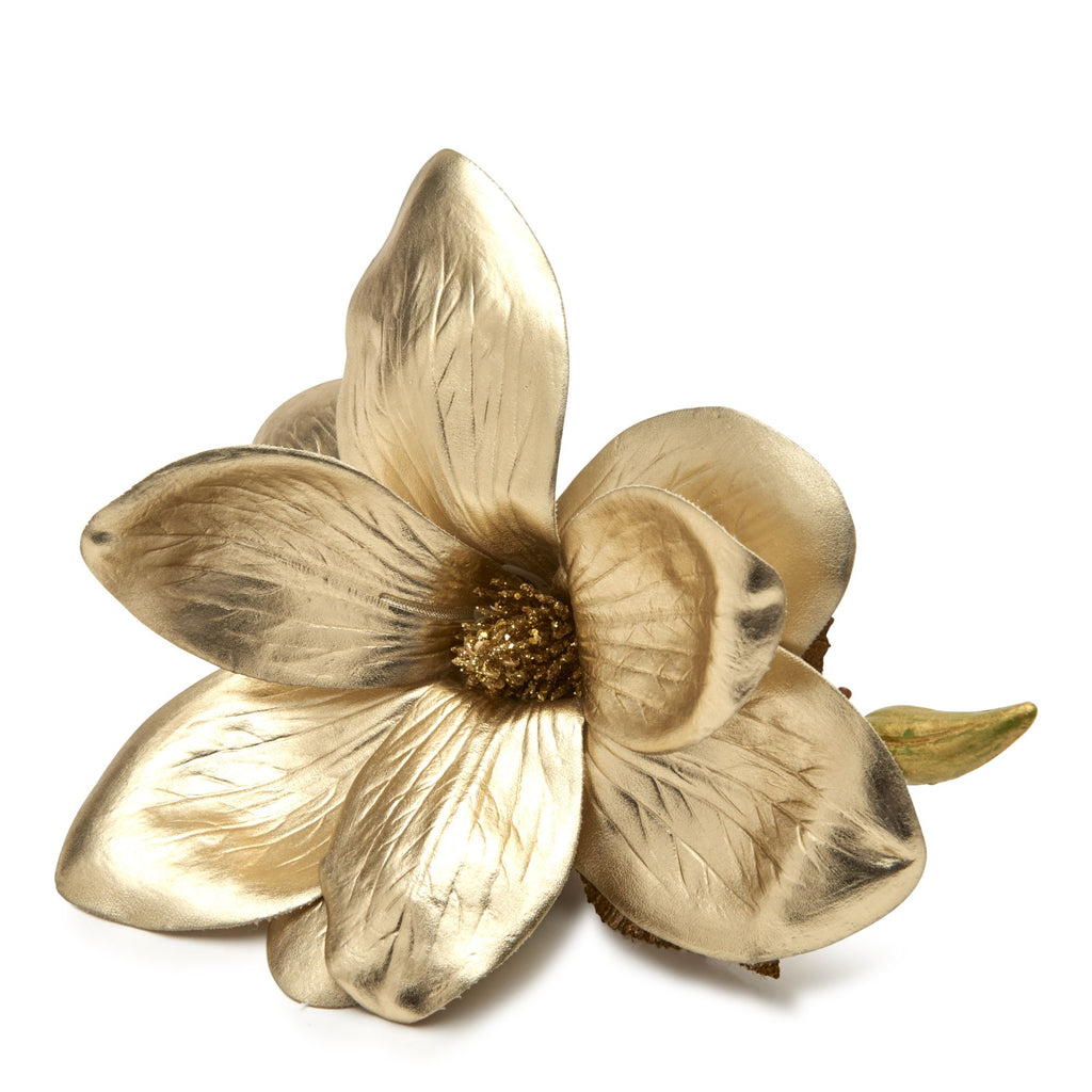 Golden Magnolia Napkin Ring