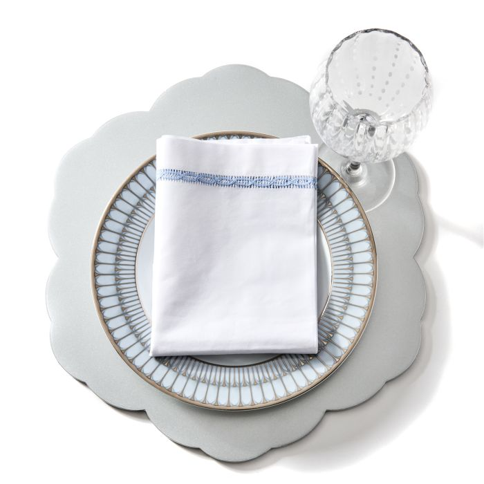 Lace Insert Embroidered Napkin
