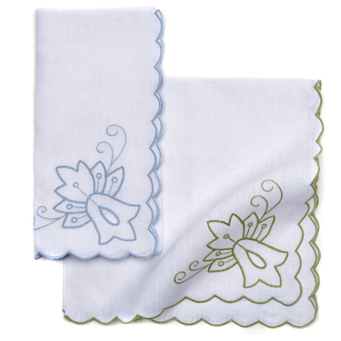 Lotus Corner Embroidered Napkin