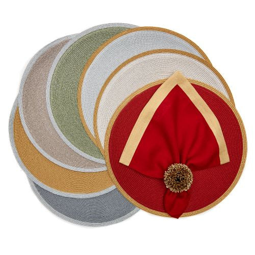 Border Round Lurex Placemat