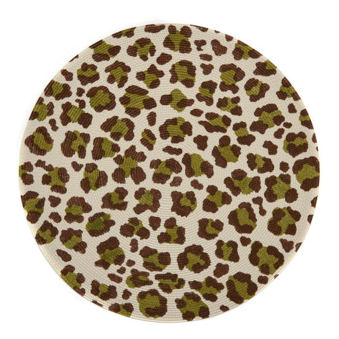 "Mod Animal Print 15"" Round Placemat"