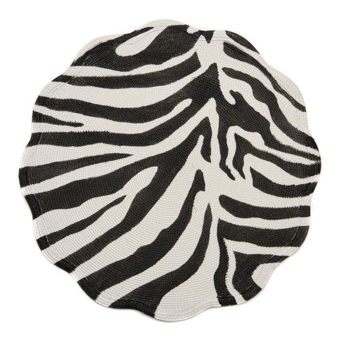 Mod Animal Print Round Scallop Placemat