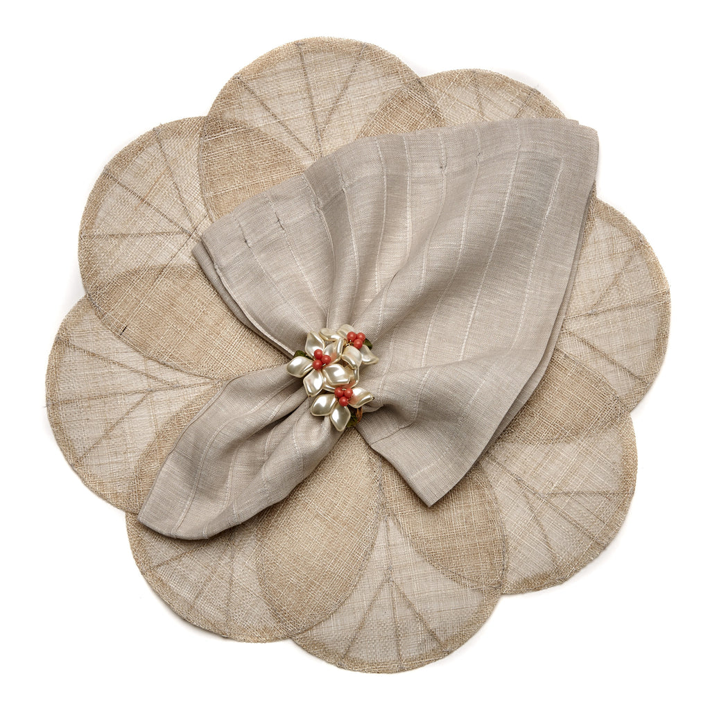Sinamay Flower Placemat