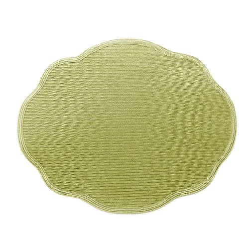 Oval Scallop Twill Placemat