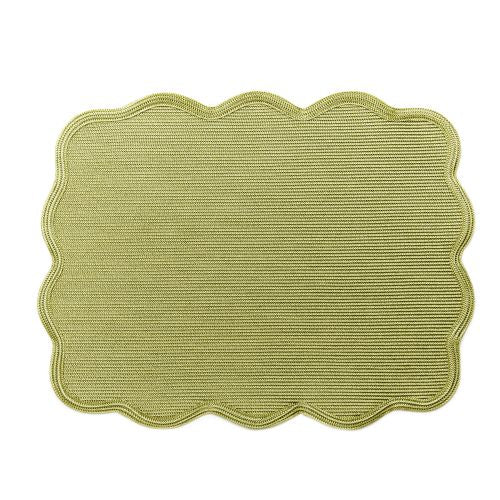 Rectangle Scallop Twill Placemat