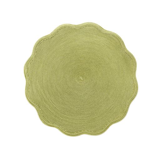 "16"" Round Scallop Twill Placemat"