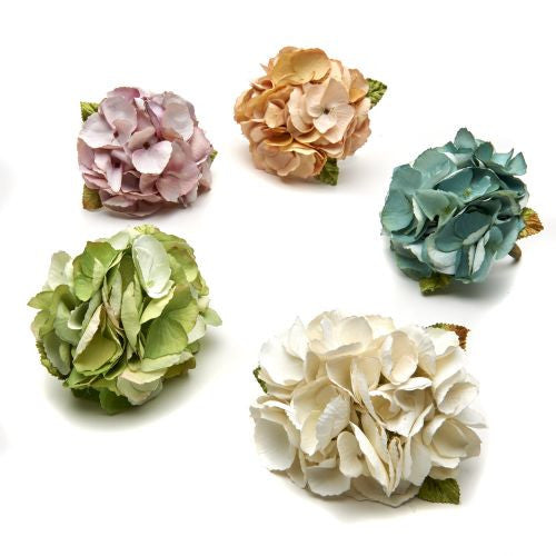 French Hydrangea Napkin Ring