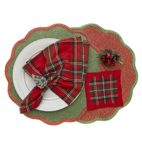 Glimmer Border Scallop Placemat