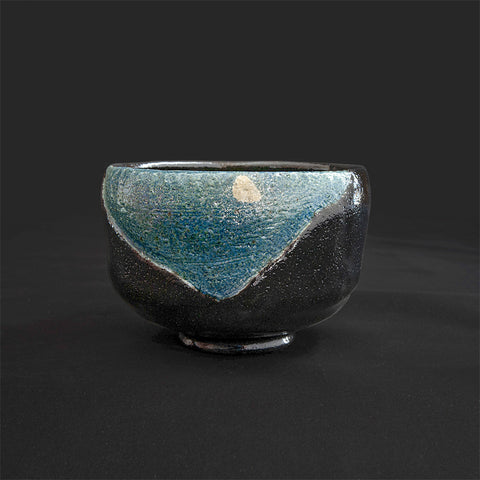 Raku Bowl - Midnight Moon