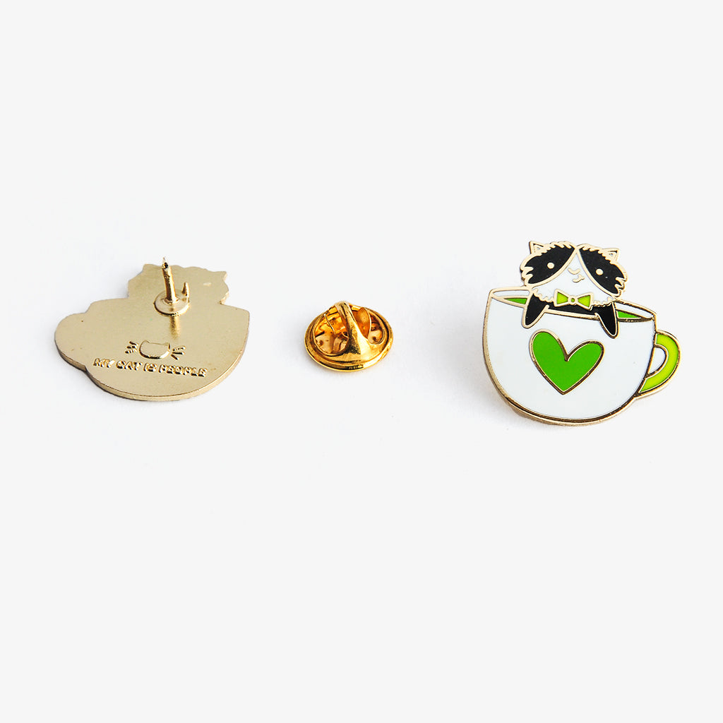 Soft Enamel Lapel Pin - But Furrst Matcha Purfect Pin