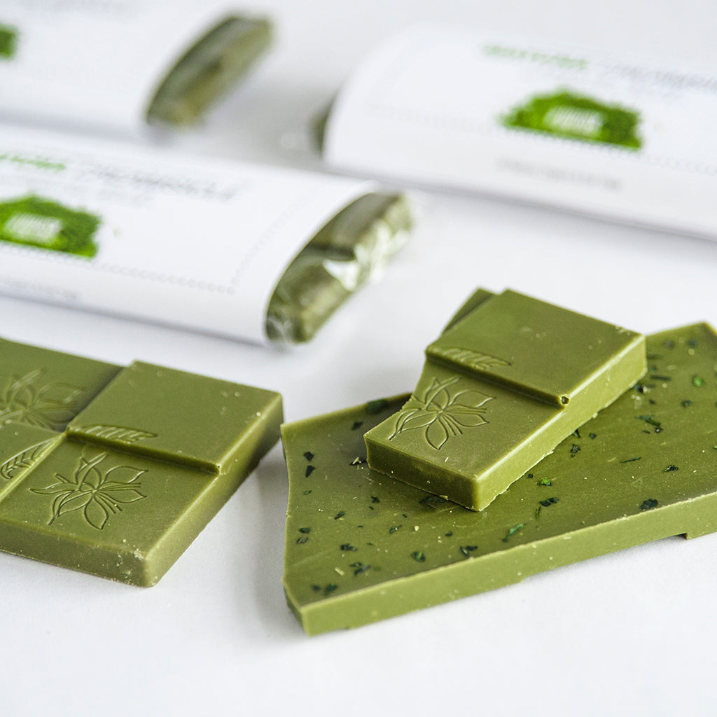 Organic Matcha White Chocolate with Tencha Flakes (Vegan & Gluten Free) - 42g